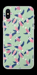 Lyserøde fugle Skin IPhone X