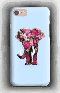Blomstrete elefant deksel IPhone 7