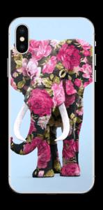 Elefante de Flores vinilo  IPhone X