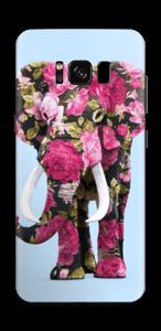 Elenfant med blomster Skin Galaxy S8