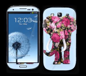 Elenfant med blomster Skin Galaxy S3