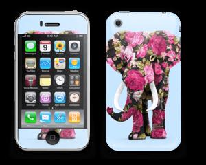 Elefante de Flores Vinilo  IPhone 3G/3GS