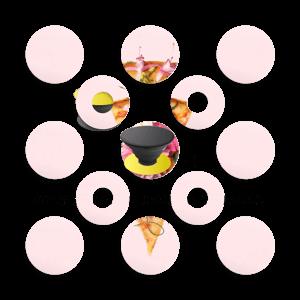 Kukkaispizza tarrakuori Phone Holder