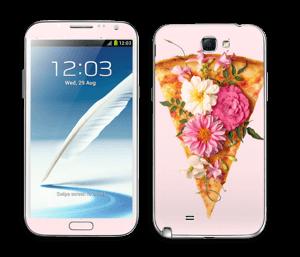 Kukkaispizza tarrakuori Galaxy Note 2