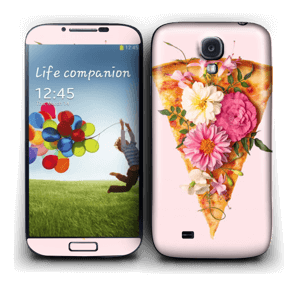 Floral Pizza  Skin Galaxy S4