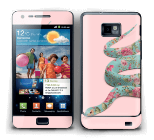 Orm i blomster Skin Galaxy S2