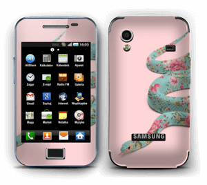 Orm i blomster Skin Galaxy Ace