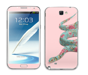 Orm i blomster Skin Galaxy Note 2
