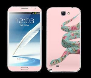 Kukkakäärme tarrakuori Galaxy Note 2
