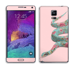 Orm i blomster Skin Galaxy Note 4
