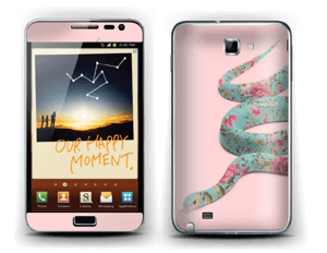 Orm i blomster Skin Galaxy Note