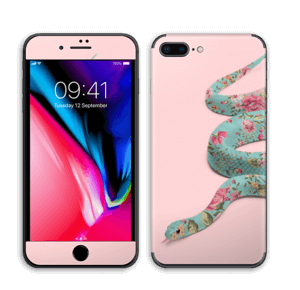 Orm i blomster Skin IPhone 8 Plus