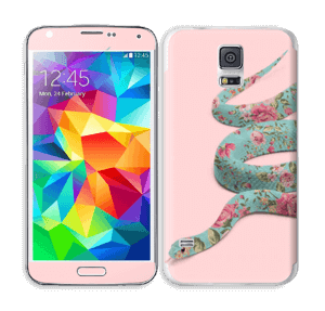 Orm i blomster Skin Galaxy S5
