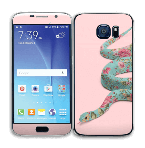 Orm i blomster Skin Galaxy S6