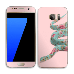 Orm i blomster Skin Galaxy S7