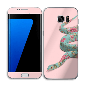 Orm i blomster Skin Galaxy S7 Edge
