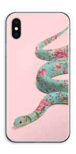 Kukkakäärme tarrakuori IPhone X