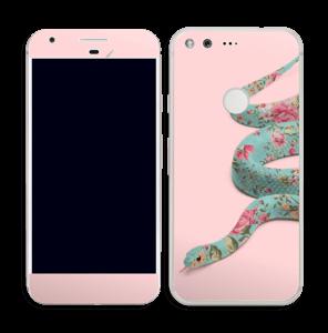 Orm i blomster Skin Pixel