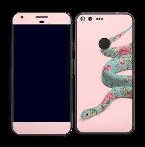 Orm i blomster Skin Pixel XL
