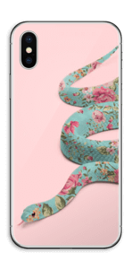 Orm i blomster Skin IPhone XS