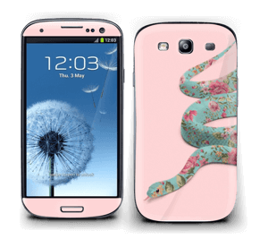 Orm i blomster Skin Galaxy S3