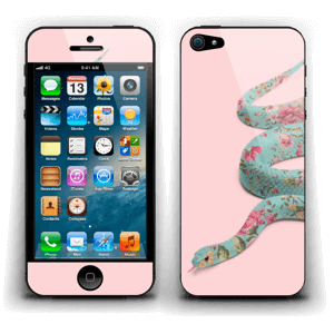 Orm i blomster Skin IPhone 5