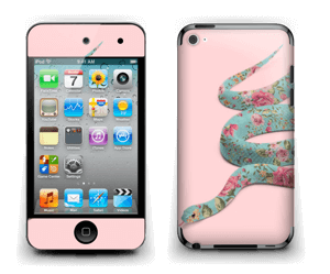 Orm i blomster Skin IPod Touch 4th Gen