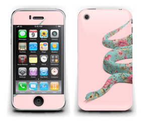 Orm i blomster Skin IPhone 3G/3GS