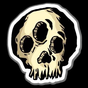 Funky skull sticker