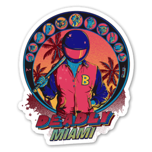 Miami letale sticker