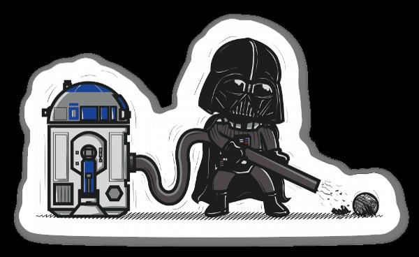 Darth Vader y R2D2 pegatina