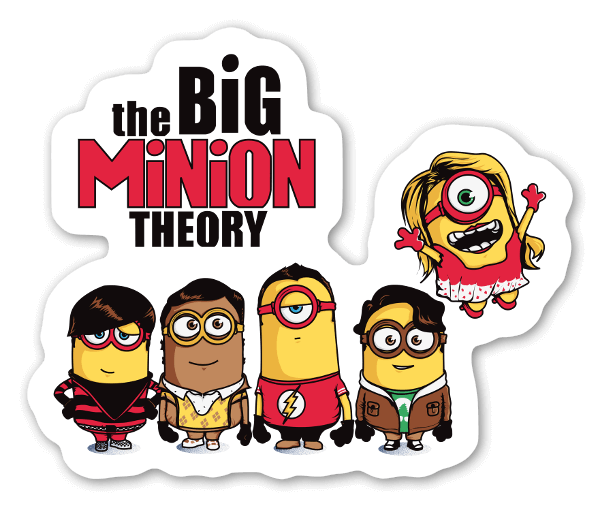 The big minion theory sticker