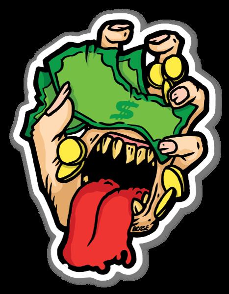 Take my money sticker