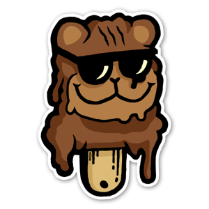 Pedo orso gelato sticker