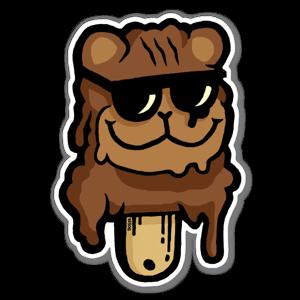 Pedo bear Ice cream  sticker