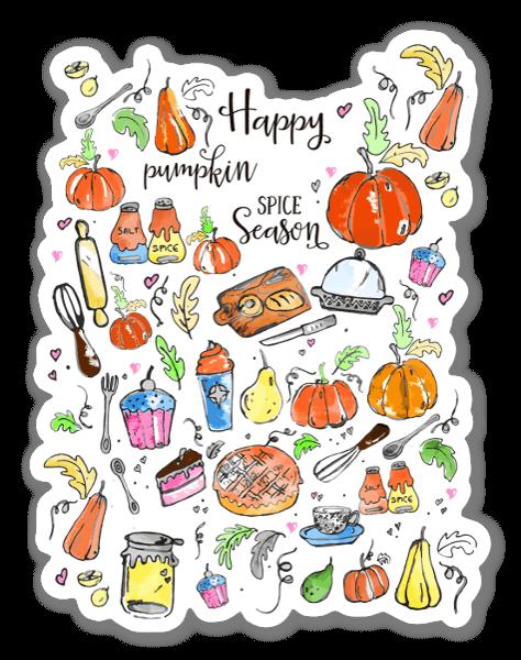 Happy pumpkin spice sticker