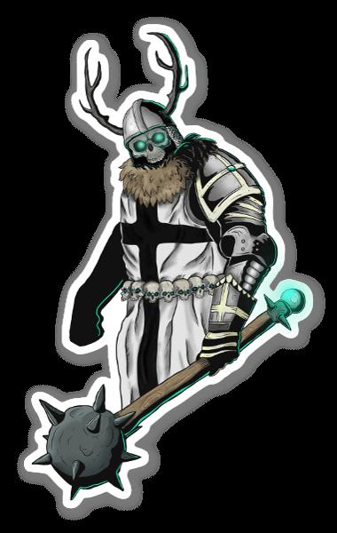 Esqueleto Caballero pegatina