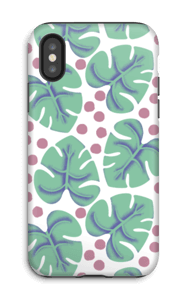 Monstera case IPhone X tough