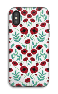 Pavots rouges Coque  IPhone X tough