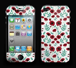 Mohnblumen Skin IPhone 4/4s