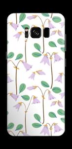 パープル 小花 スキンシール Galaxy S8