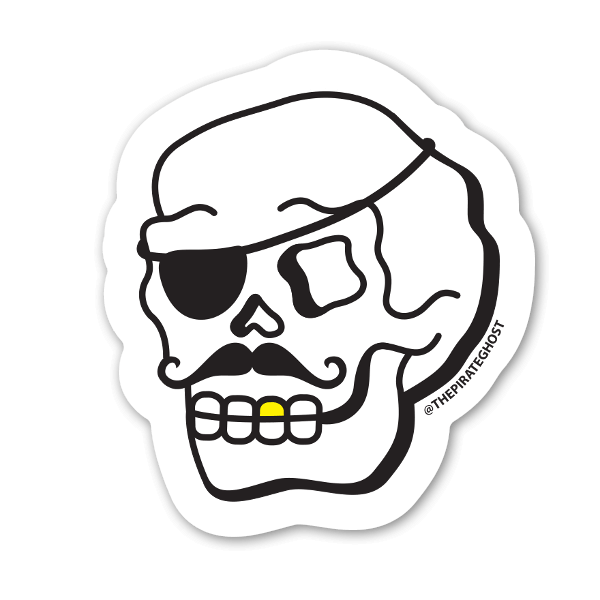 Kid Pirateghost Sticker