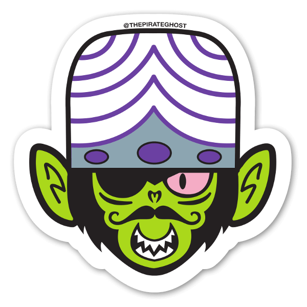 PirateGhost Mojo Jojo  sticker