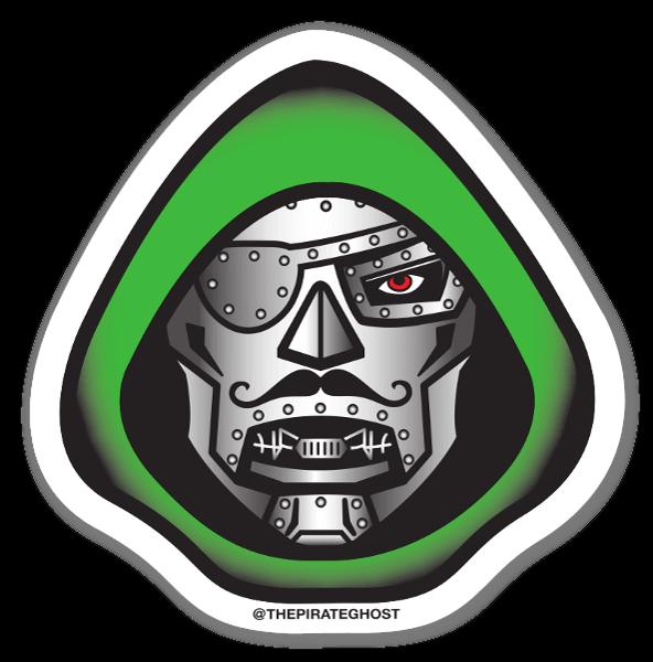 Pirateghost doom sticker