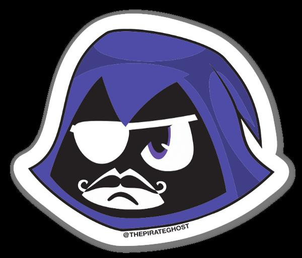 PirateGhost GO! Raven sticker