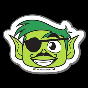 PirateGhost GO! BeastBoy sticker