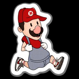 Run Mario, Run ! sticker