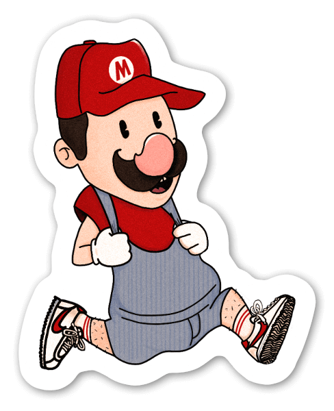 Run mario run sticker