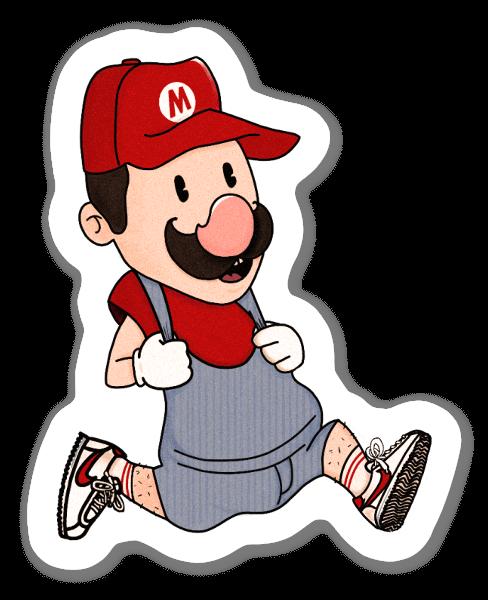 Corre, Mario, corre pegatina
