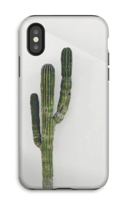 De single cactus hoesje IPhone X tough